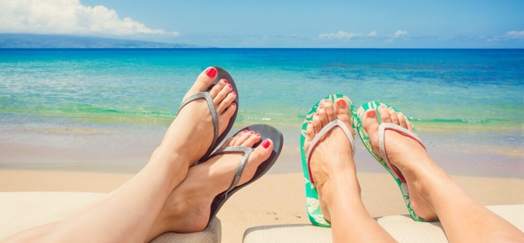 дамски чехли за плаж